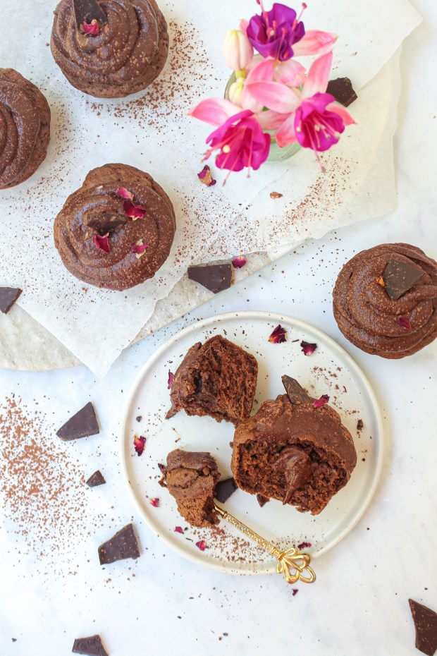 Double Chocolate Cupcakes with Chocolate Coconut Whip