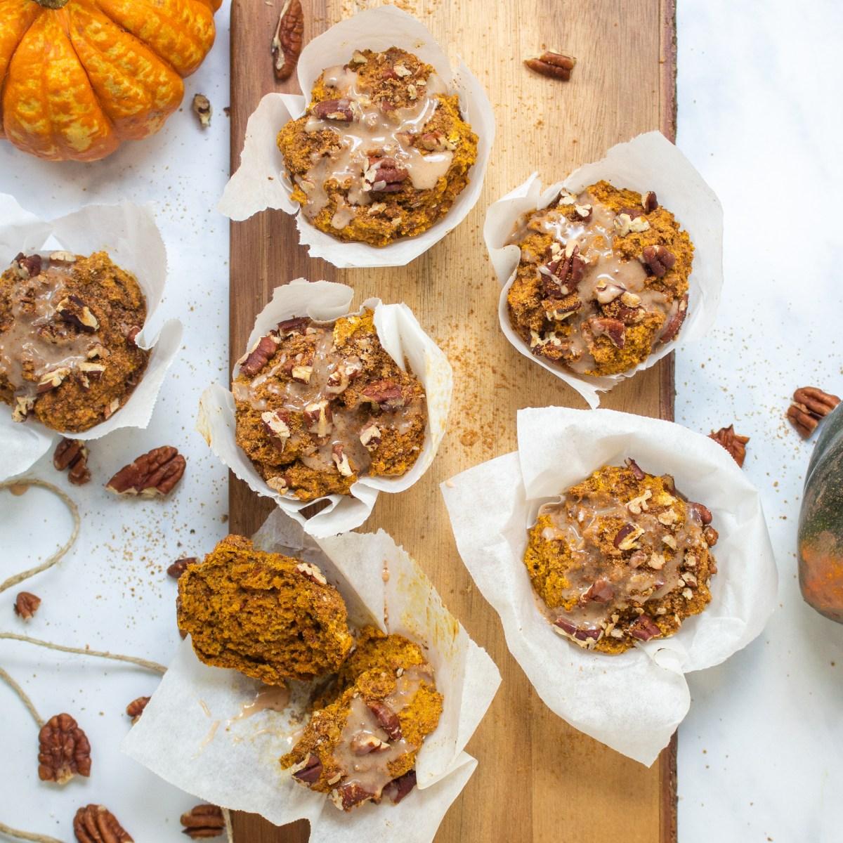 Rooibos Pumpkin Pie Muffins