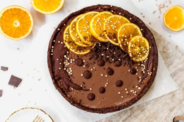 Chocolate Orange Mousse Tart