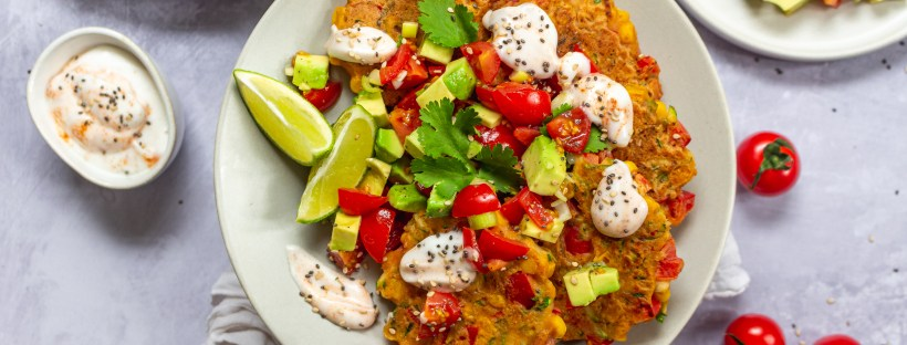 Sweetcorn and Red Pepper Fritters