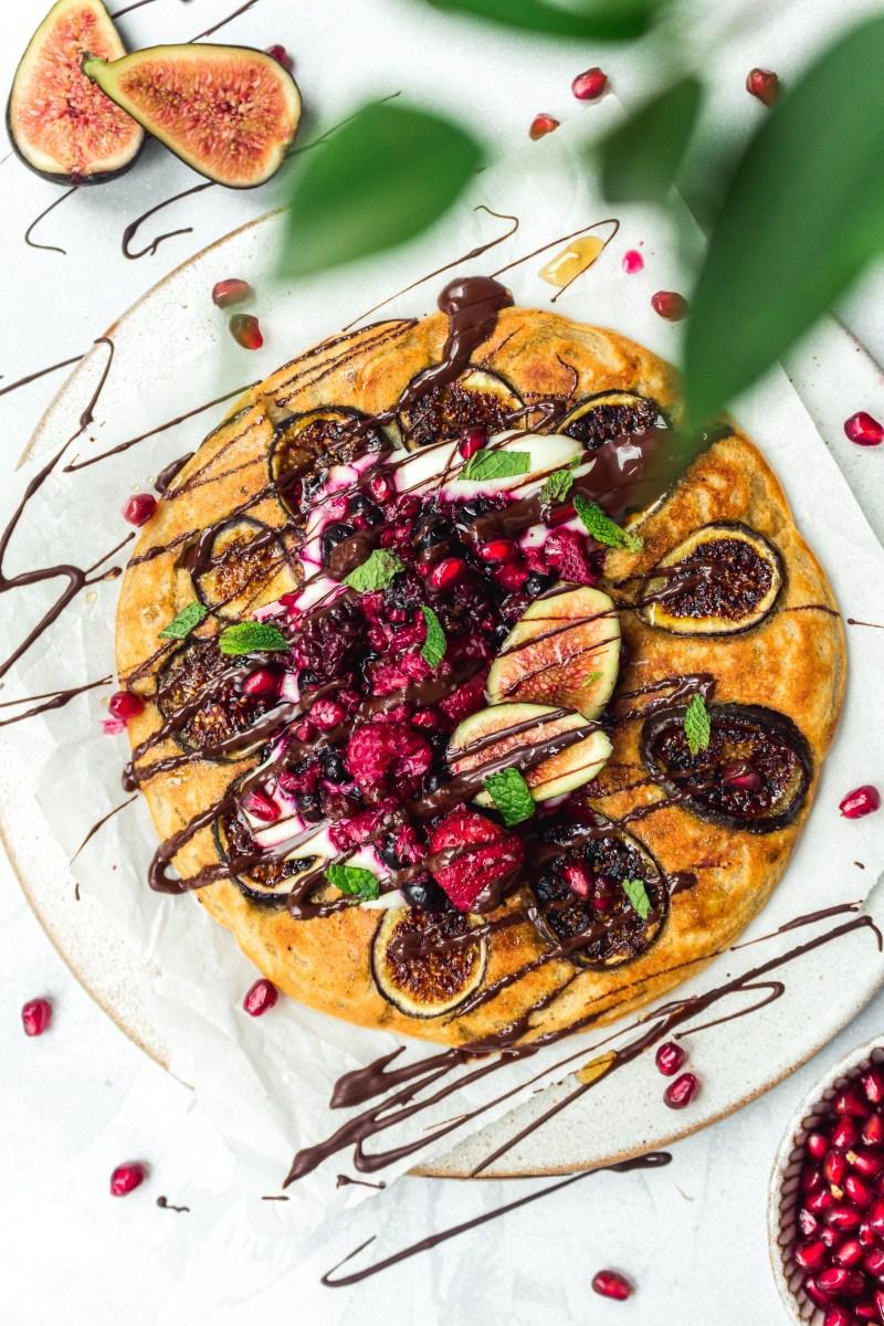 One-Pan Fruit Protein Pancake