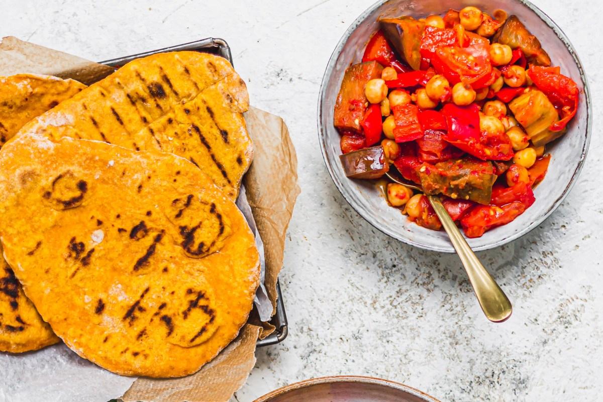 2-Ingredient Pumpkin Flatbreads
