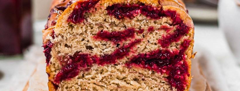 Vegan Raspberry Jam Babka