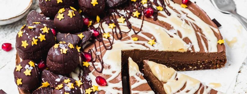 Salted Caramel Chocolate Cheesecake