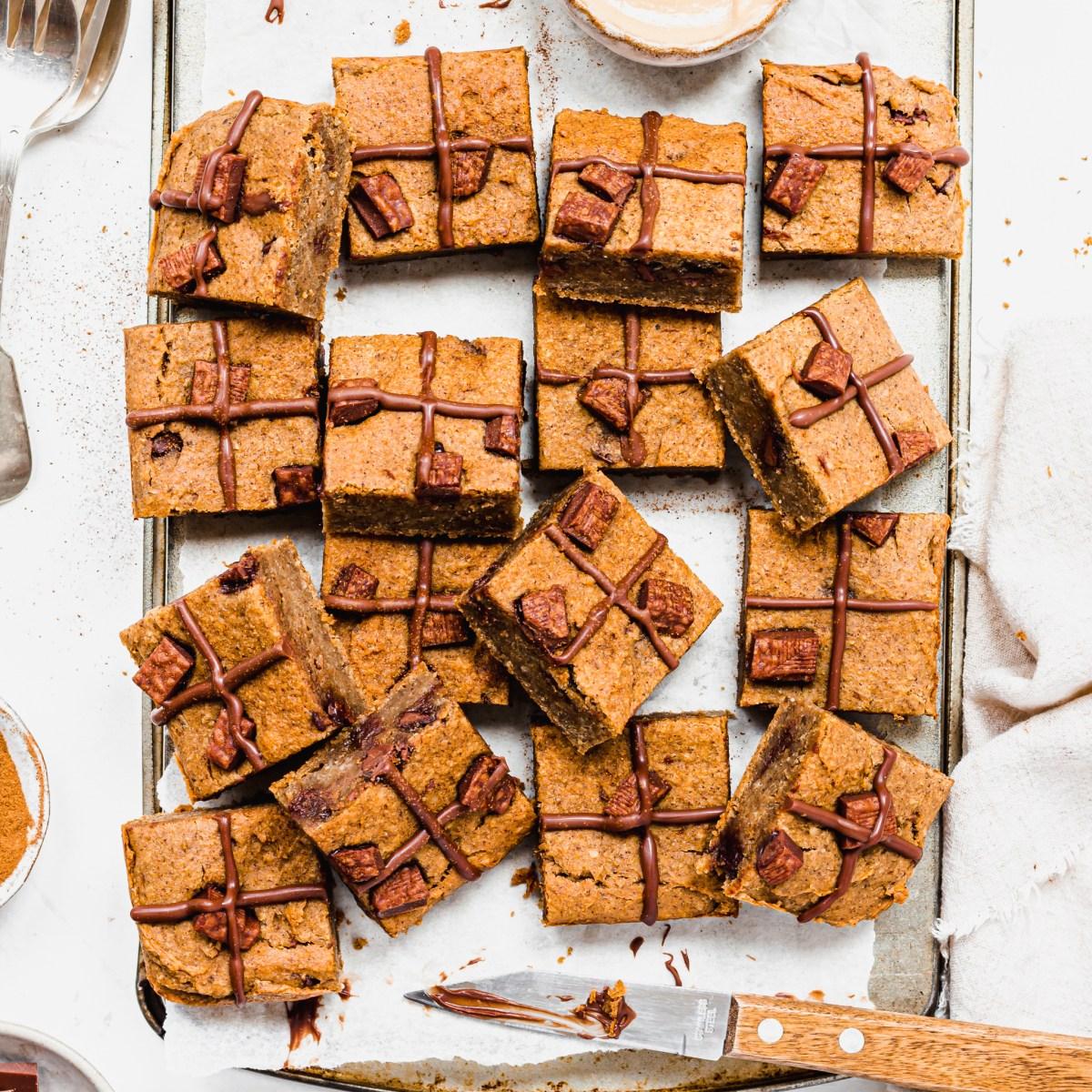 Peanut Butter Hot Cross Bun Blondies