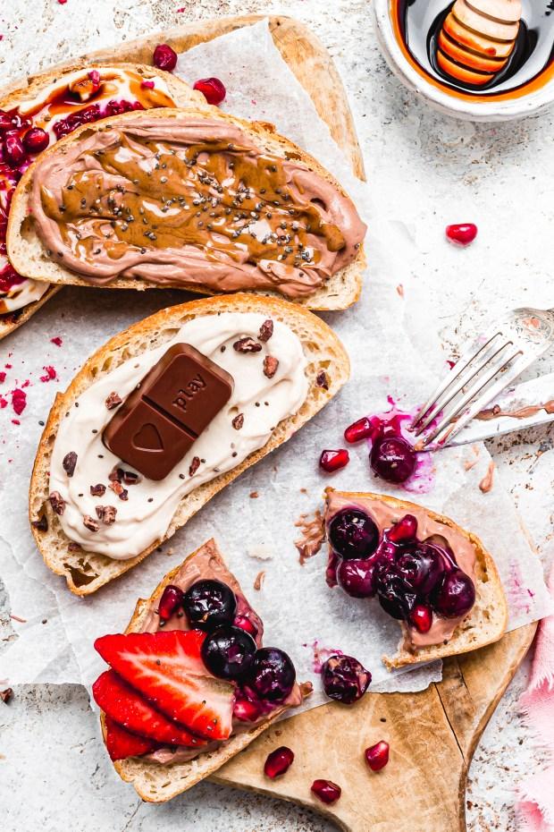 Protein Yoghurt Breakfast Toast 4 Ways
