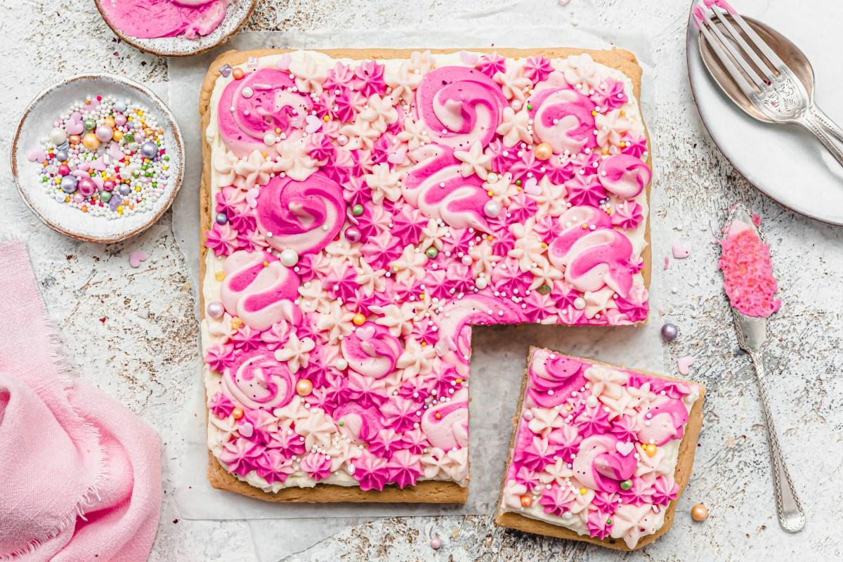 Vegan Gluten-free Vanilla Sheet Cake