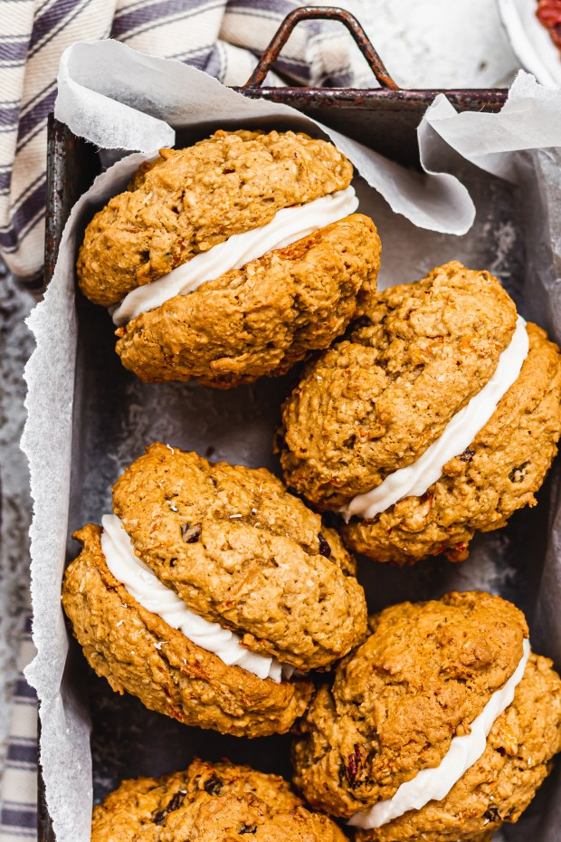 Carrot Cake Cookie Sandwiches
