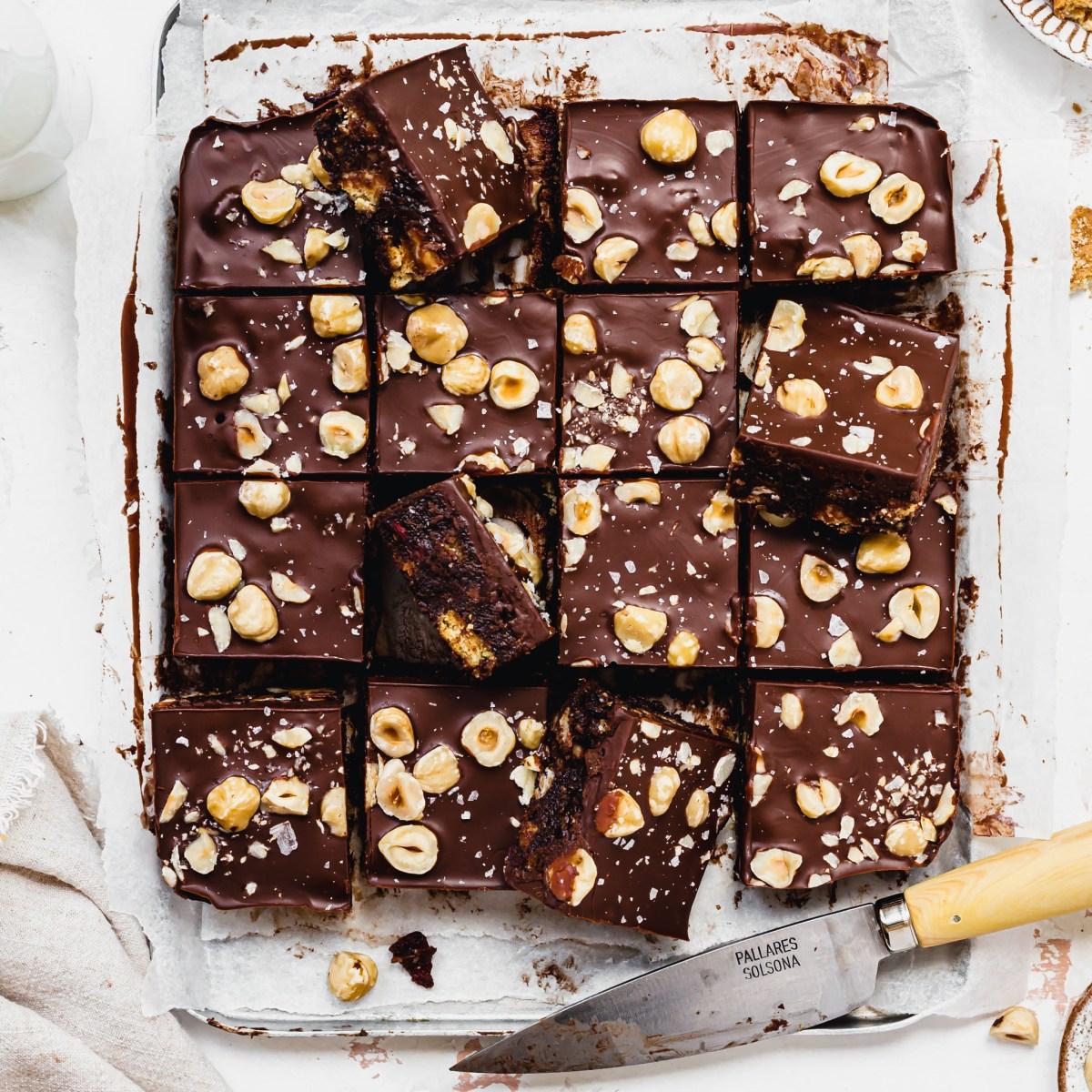 Easy Vegan Chocolate Tiffins