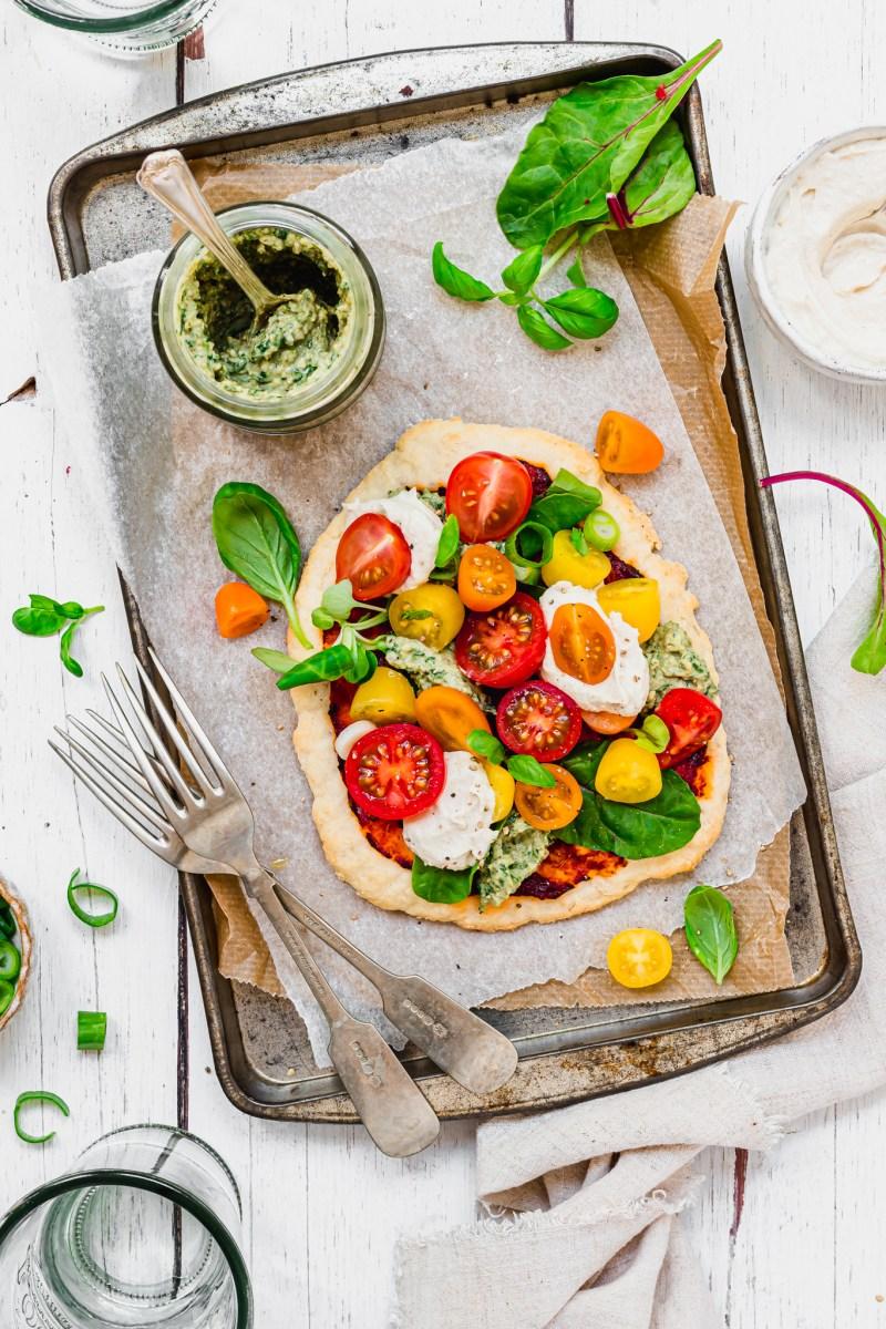 Vegan No Yeast Pizzas