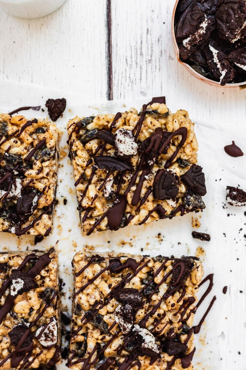 Peanut Butter Oreo Crispy Squares