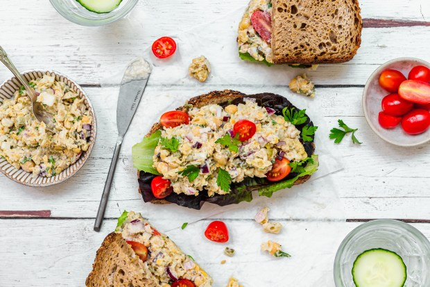 Chickpea Tuna Salad Sandwich