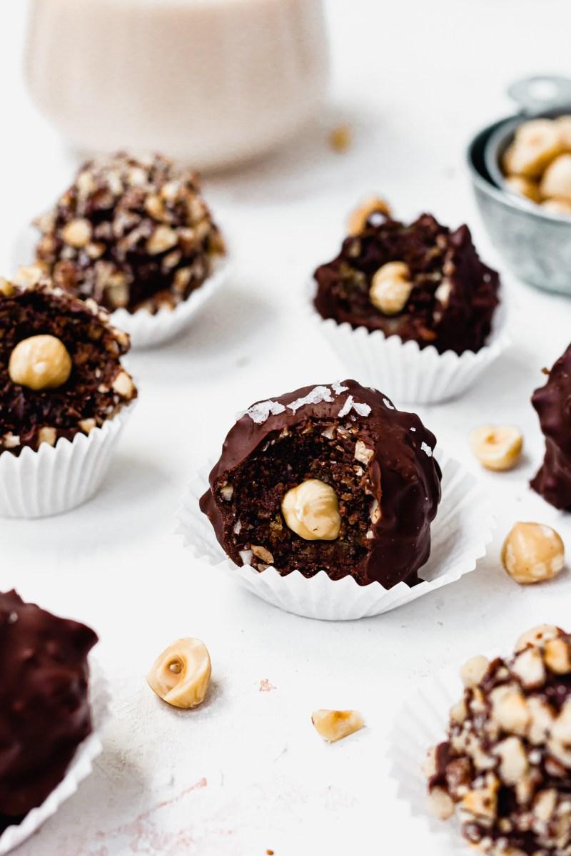 Ferrero Rocher Cake Balls