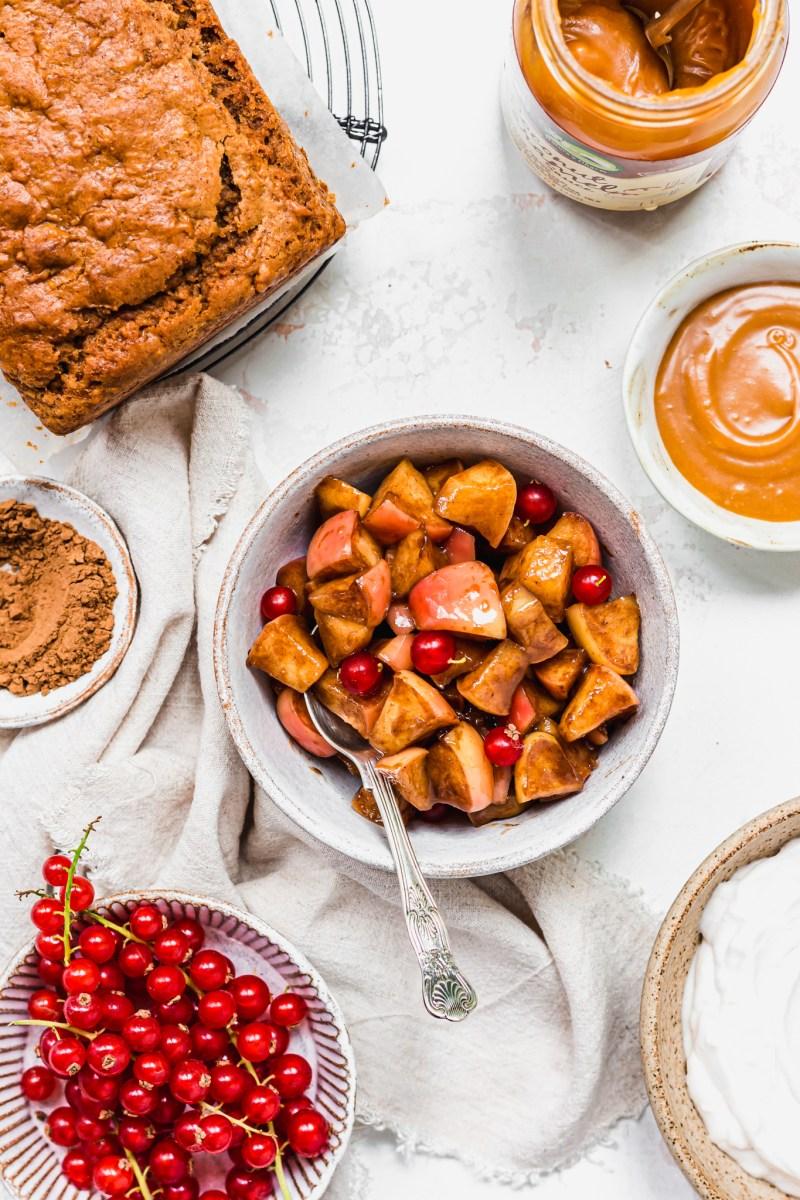 Caramel Apple Loaf Cake ingredients photo