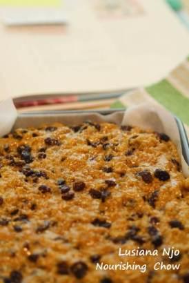 Sultana cake mixture, before baking