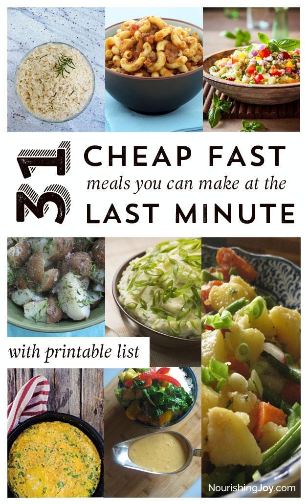 Cheap Quick Meals 2