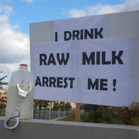 I drink raw milk photo