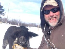 Mark Baker and an unferal swine selfie
