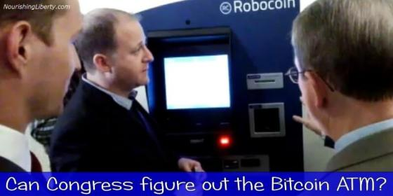 Congressman Polis using Bitcoin ATM