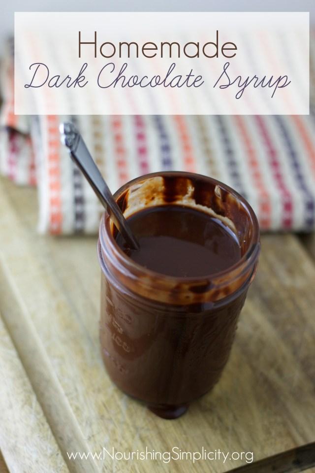 Homemade Dark Chocolate Syrup