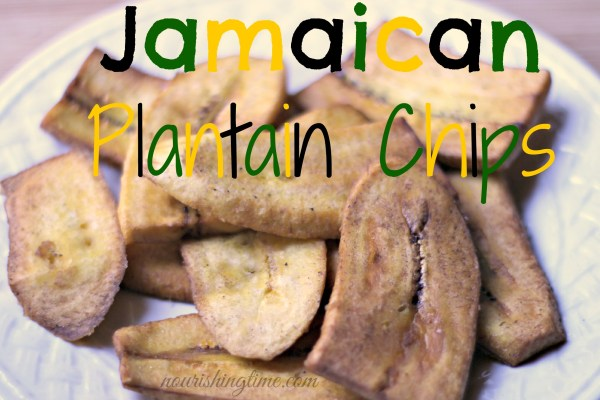 Homemade Jamaican Plantain Chips