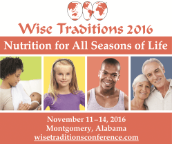Wise Traditions 2016