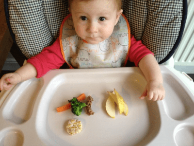 Baby-led eating, example 1