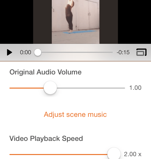 How to Speed up videos in Lumify App for iPhone