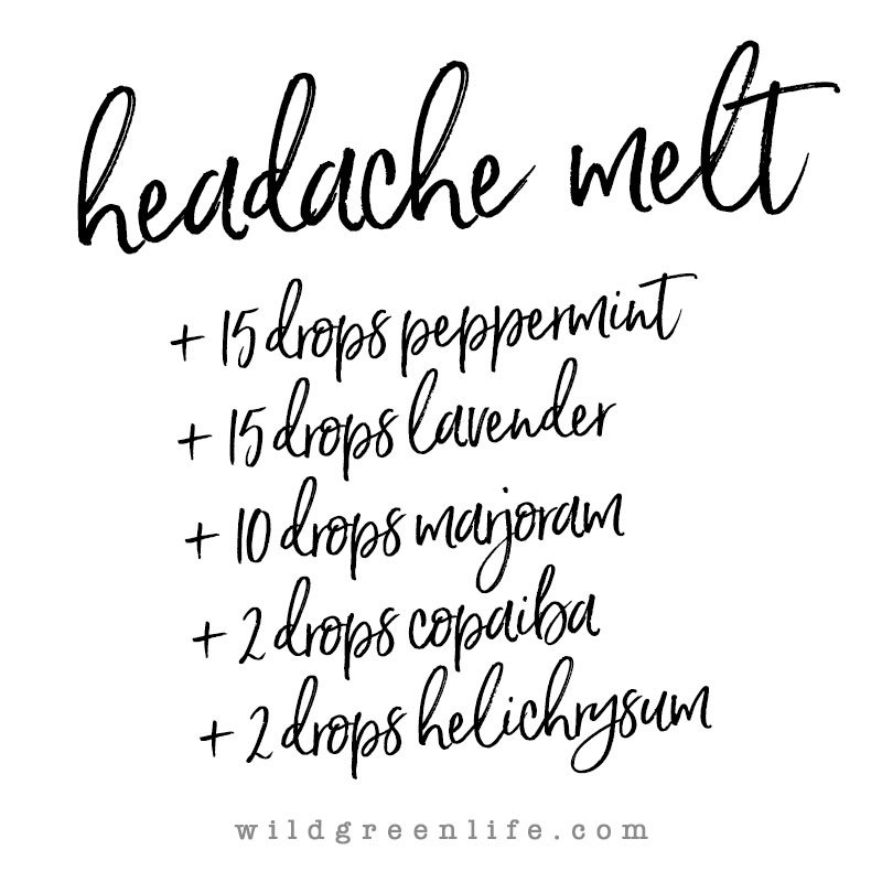 Headache melt with young living essential oils
