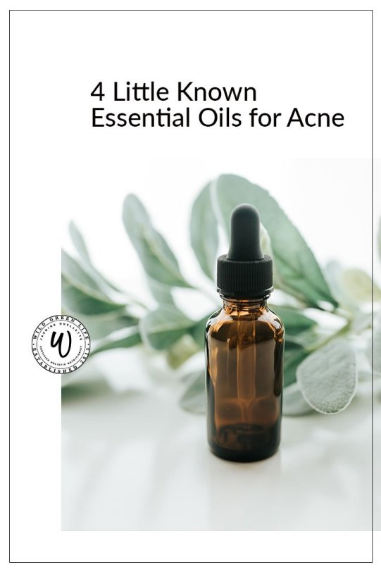 4 little known essential oils for acne