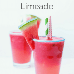 5 minute watermelon limeade | Try this easy semi-homemade watermelon limeade recipe to cool down on a hot summer's day