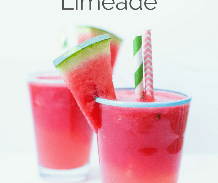 5 minute watermelon limeade   Try this easy semi-homemade watermelon limeade recipe to cool down on a hot summer's day