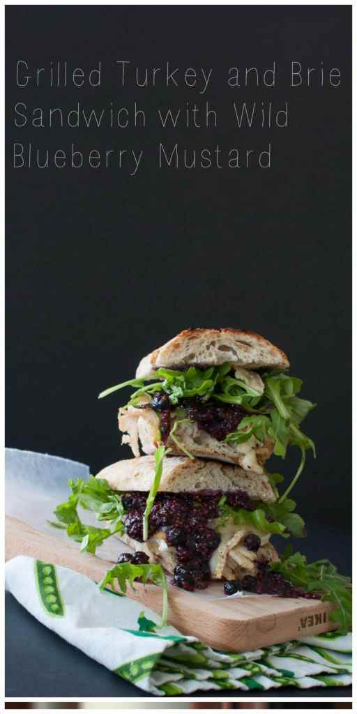 Grilled Turkey and Brie Sandwich with Wild Blueberry Mustard   www.nourishnutritionblog.com   #ad Throw all of your favorite Thanksgiving leftovers onto bread and top it with the most delicious and antioxidant-filled wild blueberry mustard