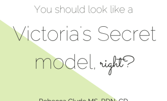 You Should Look Like a Victoria's Secret Model, right? | www.nourishnutritionblog.com