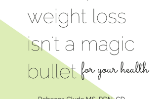 Why weight Loss doesn't automatically make you healthy | www.nourishnutritionblog.com