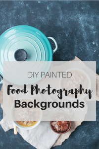 DIY Painted Food Photography Backgrounds | how to paint easy and quick backgrounds for food photography | www.nourishnutritionblog.com