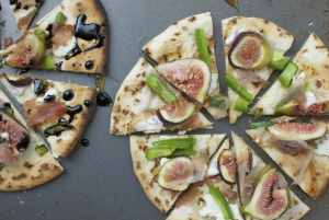 The Easiest Fig and Prosciutto Naan Pizza