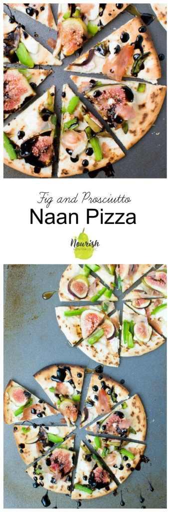 Fig and Prosciutto Naan Pizzas | 20 minutes | www.nourishnutritionblog.com