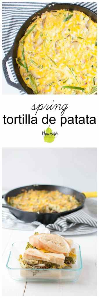 Spring Tortilla de Patata Sandwich | The Recipe Redux | www.nourishnutritionblog.com