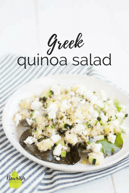 Greek Quinoa Salad | this healthy and easy summer salad is the perfect fresh and light lunch recipe