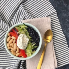 Black Rice and Cannellini Bean Buddha Bowl | #ad made with Dannon Light & Fit yogurt