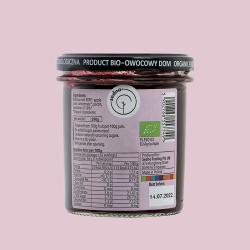 Sedno Blackcurrant jam with cardamon