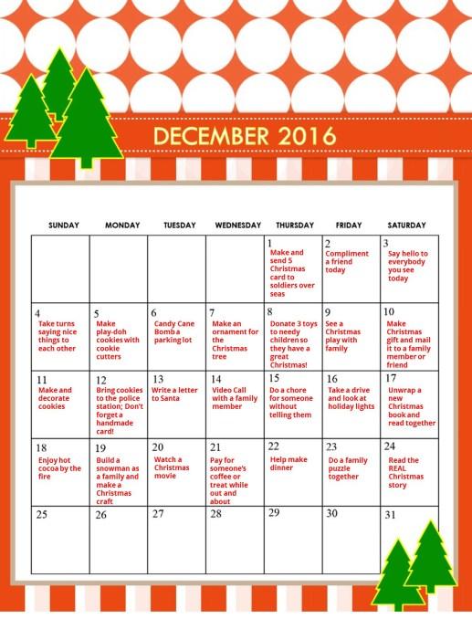 Candy Free Advent Calendar