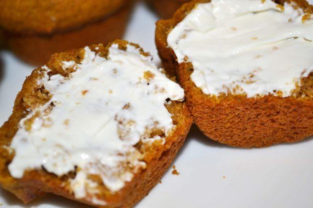 Mini Pumpkin Muffins Cream Cheese