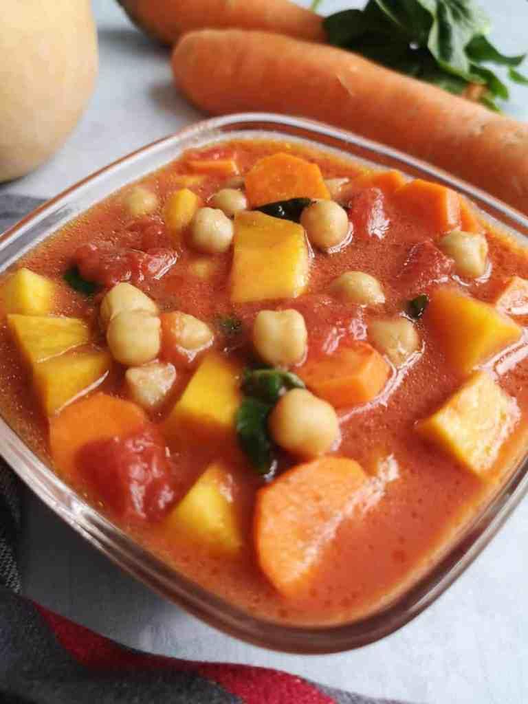 curry butternut et carottes