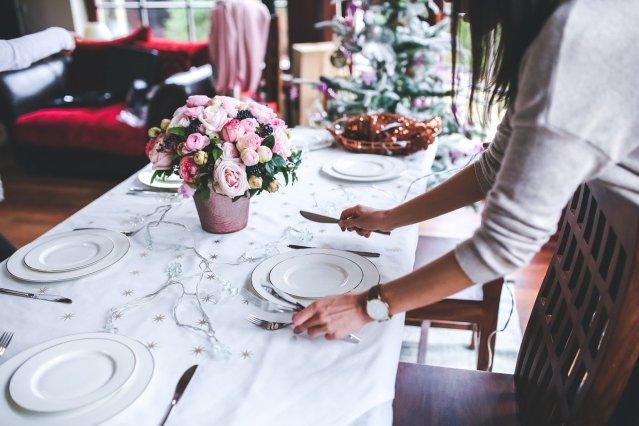 table de fêtes sans gluten