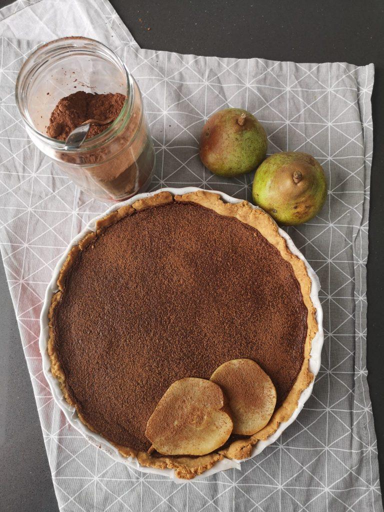 tarte aux poires et chocolat