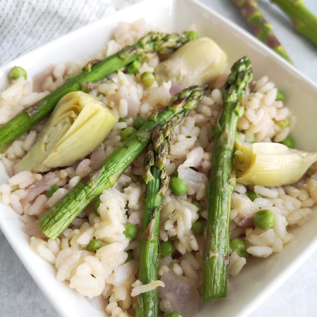 risotto aux asperges et artichauts