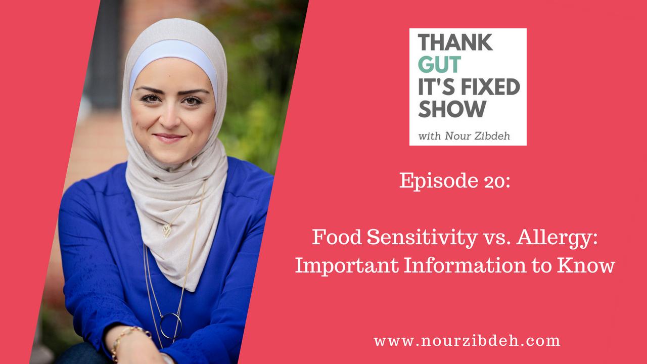 food sensitivity vs allergy