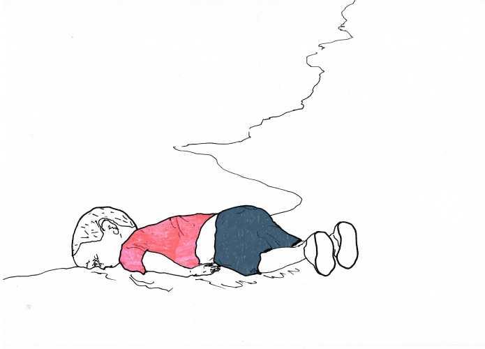 Alan Kurdi_Illustration zum Mittelmeergrenzsoldaten (Von Lukas Schepers)-min (1)